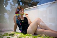 "Rachel Hrbek: ""Easy Consumption Pt. 3: Celery"" Photo: AviGupta"
