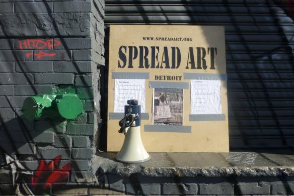 Spread Art's gallery space at Bushwick Open Studios on 12 Grattan Street.