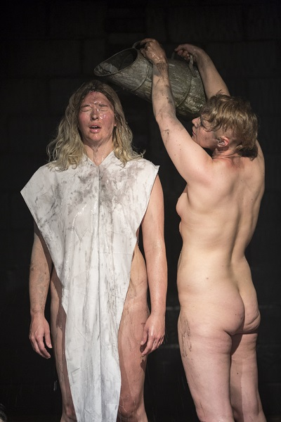 Natalie Raven and Dagmar Schwitzgebel, Sackcloth and Ashes (2016), Studio Utopia Theatre, Tempting Failure.Photo: Julia Bauer, Courtesy of Tempting Failure