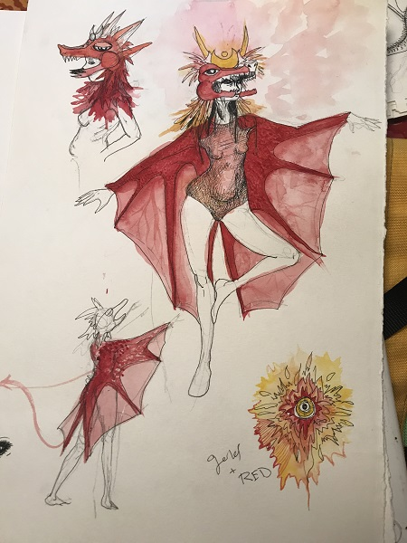 Anna-Hafner-Sketch- Vermillion-the-Dragon-2017